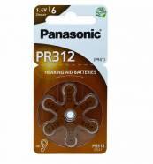ΜΠΑΤΑΡΙΕΣ PANASONIC PR312 (41) ΑΚΟΥΣΤΙΚΩΝ 6 ΤΜΧ