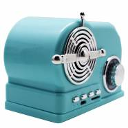 ΗΧΕΙΟ BLUETOOTH VINTAGE RADIO LIGHT BLUE
