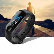 SMART WATCH M3 FITNESS STRIP BRACELET - ΜΑΥΡΟ
