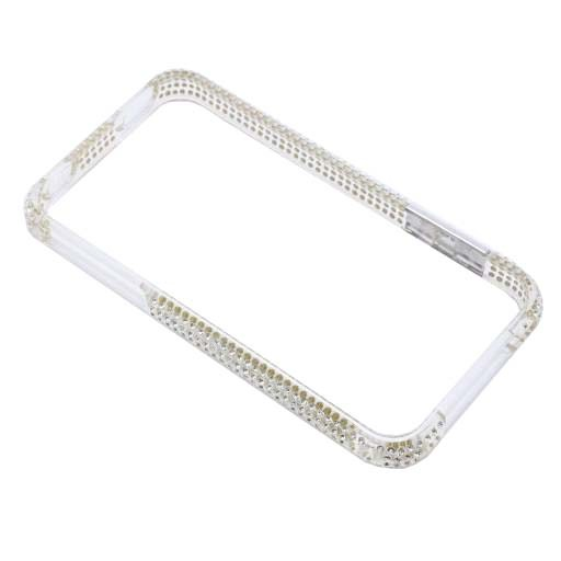BUMPER IPHONE 4/4S STRASS MORE ΑΣΠΡΟ