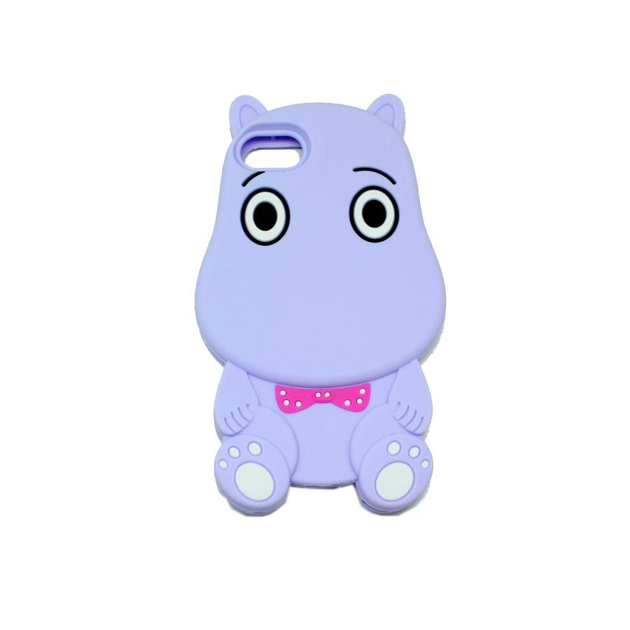 ΘΗΚΗ IPHONE 6/6S BACK COVER 3D HIPPO ΜΩΒ