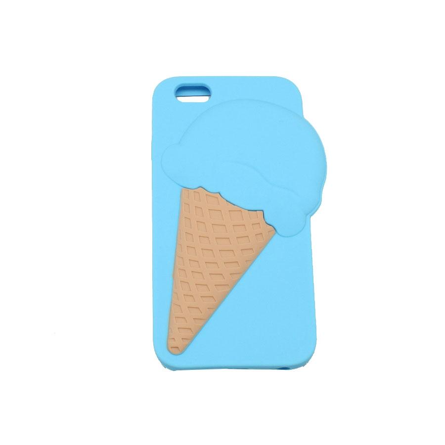 ΘΗΚΗ IPHONE 6/6S  BACK COVER 3D ICE CREAM ΜΠΛΕ
