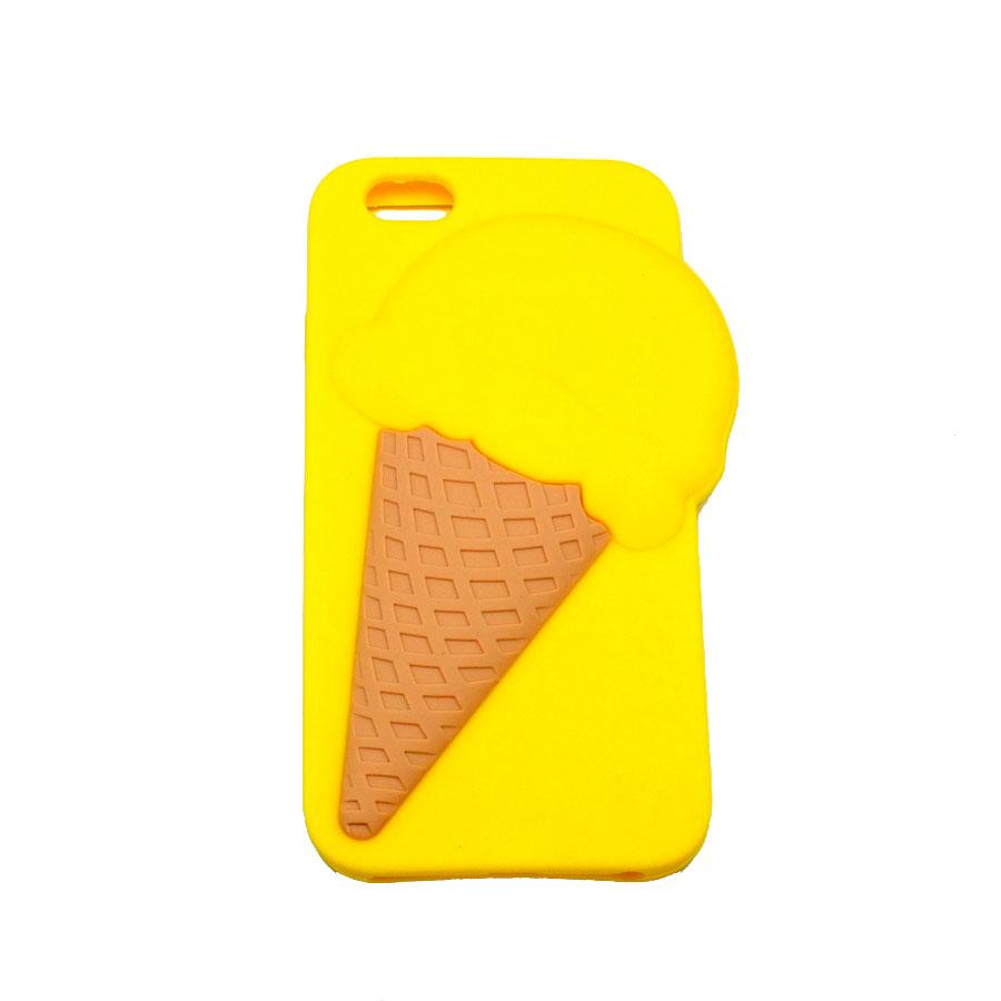 ΘΗΚΗ IPHONE 6/6S  BACK COVER 3D ICE CREAM ΚΙΤΡΙΝΟ