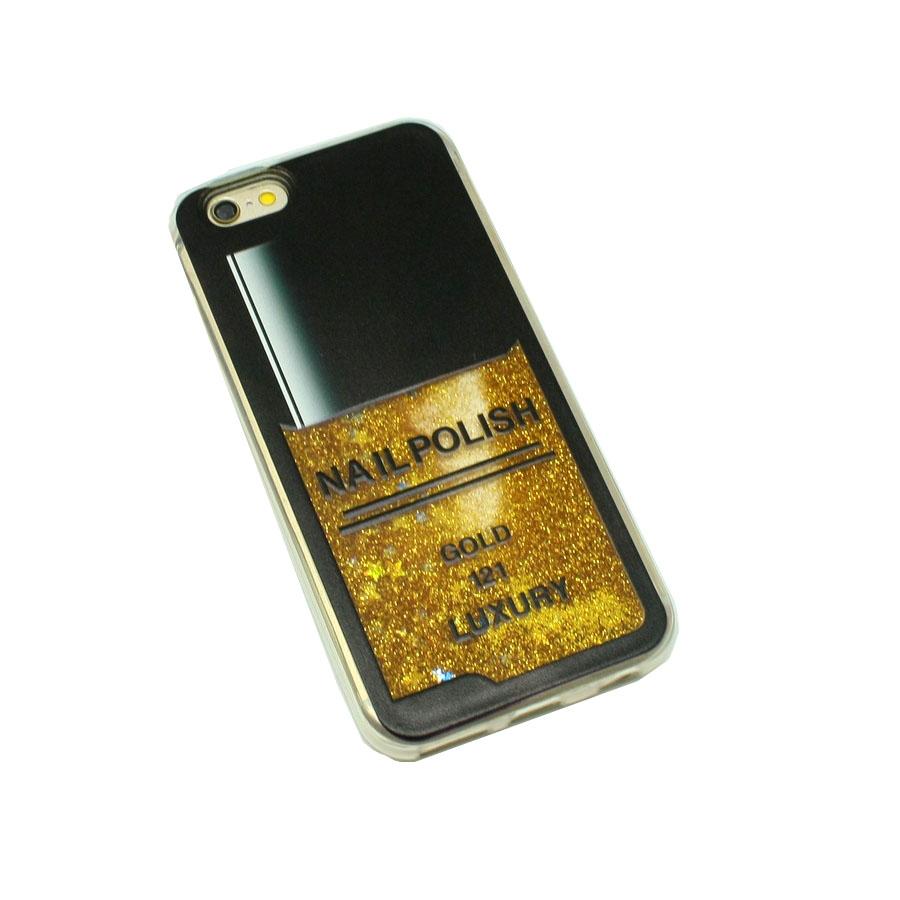 ΘΗΚΗ IPHONE 6/6S HARD CASE NAIL GLITTER ΧΡΥΣΟ