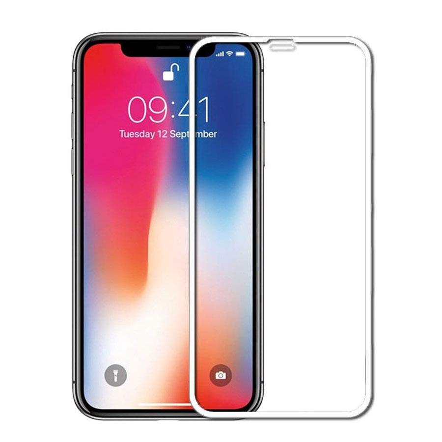 5D TEMPERED GLASS 9Η ΠΡΟΣΤΑΣΙΑ ΟΘΟΝΗΣ APPLE IPHONE XS MAX (6,5') - ΑΣΠΡΟ