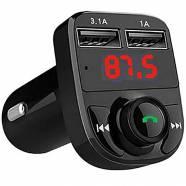 FM TRANSMITΤER ΜΕ USB + CARD READER + BLUETOOTH X8
