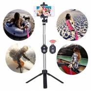 SELFIE STICK BLUETOOTH TRIPOD - ΜΑΥΡΟ