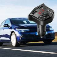 BLUETOOTH  CAR FM TRANSMITTER - CHARGER DUAL USB3.1A - CUBE