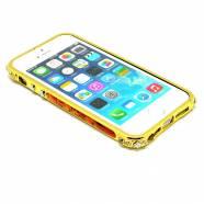 BUMPER IPHONE 5/5S/SE METALLIC STRASS 2 ΚΑΦΕ